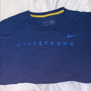 Nike livestrong tshirt. Would be cute cropped:)